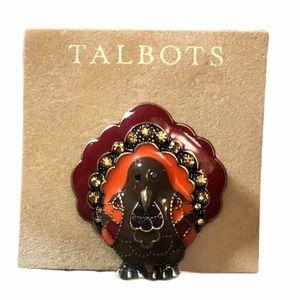 🆕 Talbots Thanksgiving Turkey Brooch
